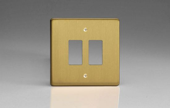 Varilight PowerGrid Plates Brushed Brass